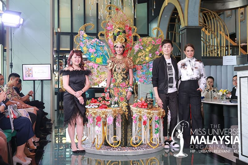 Preview of the Peranakan Indulgence National Costume & Evening Gown for the 68th Miss Universe Pageant